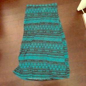 Teal Aztec Maxi Skirt!! Size: 2X